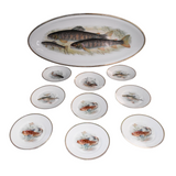 Antique Porcelain Fish Platter Fish Plate Set B. Bloch Eichwald Porcelain - Premier Estate Gallery