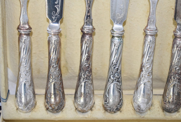 Austrian Silver Fish Cutlery Set 24 pieces Service for 12