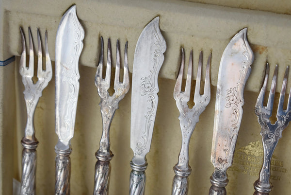 Austrian Silver Fish Cutlery Set 24 pieces Service for 12 - Premier Estate Gallery 4