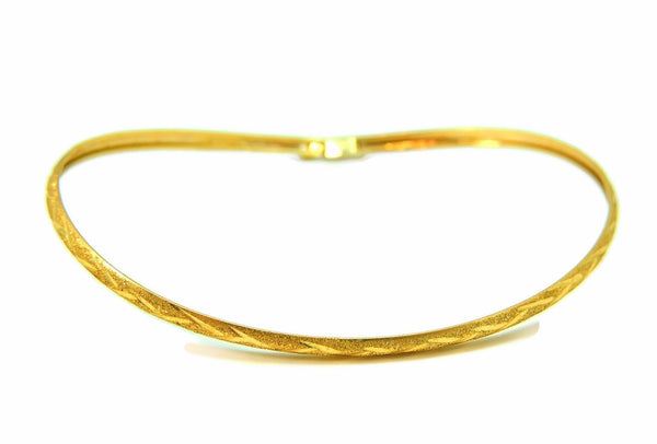 Flexible Hinged Bangle Bracelet 10k Gold Etched Design Vintage - Premier Estate Gallery  - 1