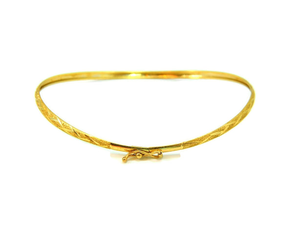 Flexible Hinged Bangle Bracelet 10k Gold Etched Design Vintage - Premier Estate Gallery  - 3
