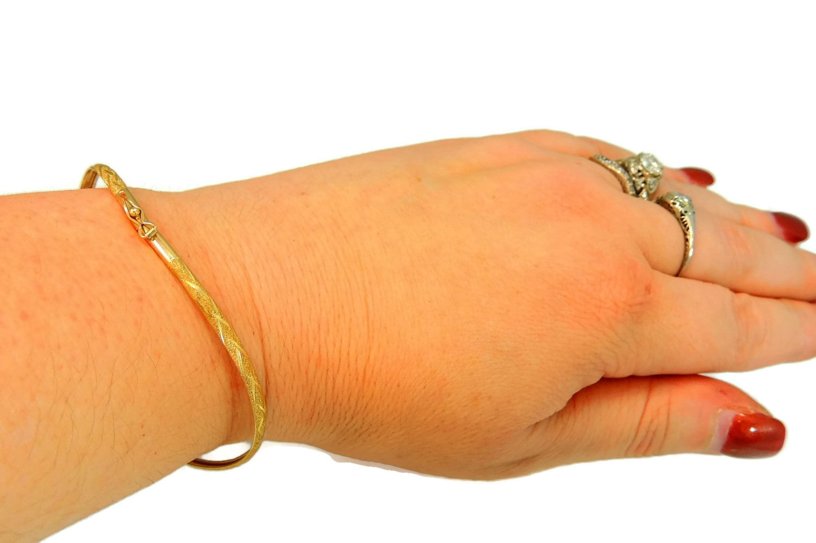 bracelets ladies mariner lg diamond yellow cut gold bangles inch bracelet bangle id