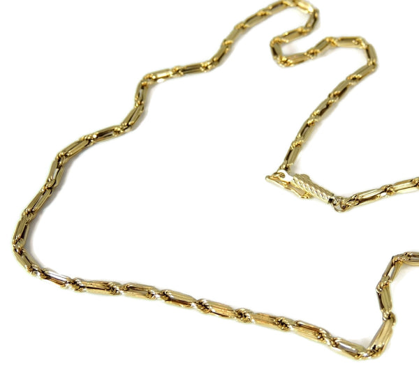 Bar Link Chain 14k Gold Fancy Unisex - Premier Estate Gallery  - 2