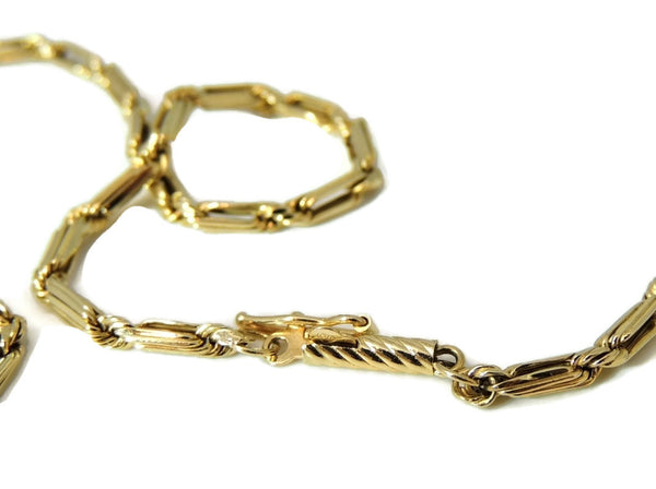 Bar Link Chain 14k Gold Fancy Unisex - Premier Estate Gallery  - 4