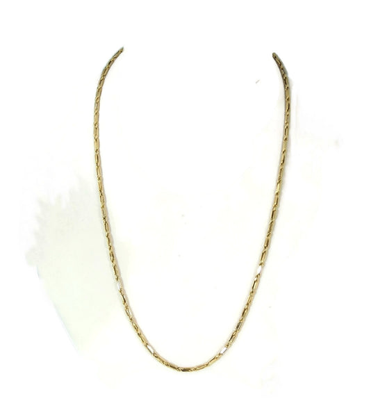Bar Link Chain 14k Gold Fancy Unisex - Premier Estate Gallery  - 3