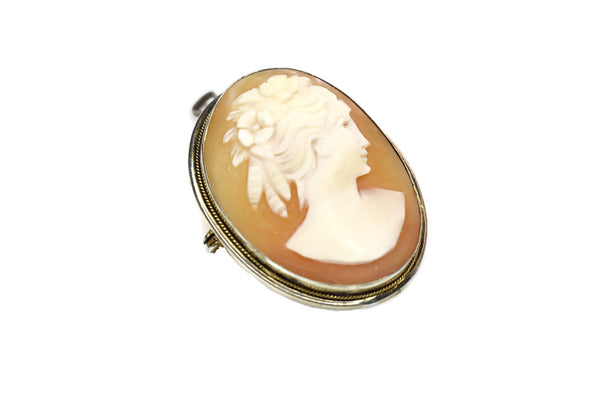 Estate Silver Cameo Brooch or Pendant 800 Silver Antique - Premier Estate Gallery 3