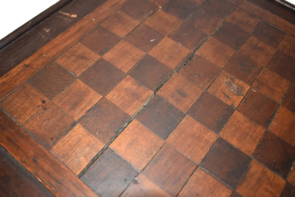 Primitive Folk Art Inlay Wood Checkerboard Antique Americana Game Board - Premier Estate Gallery 3
