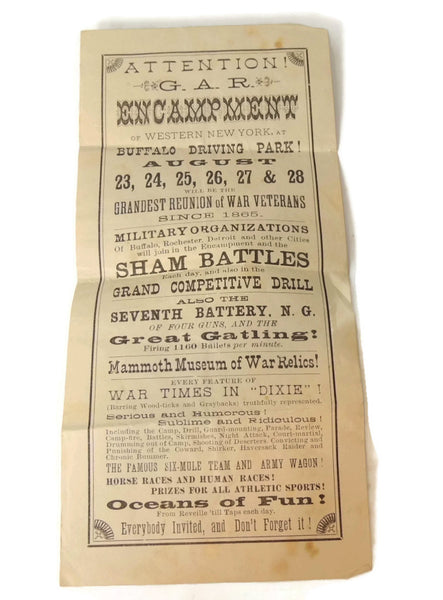 Antique GAR Encampment Flyer 1897 Buffalo NY Grand Army Encampment - Premier Estate Gallery  - 1