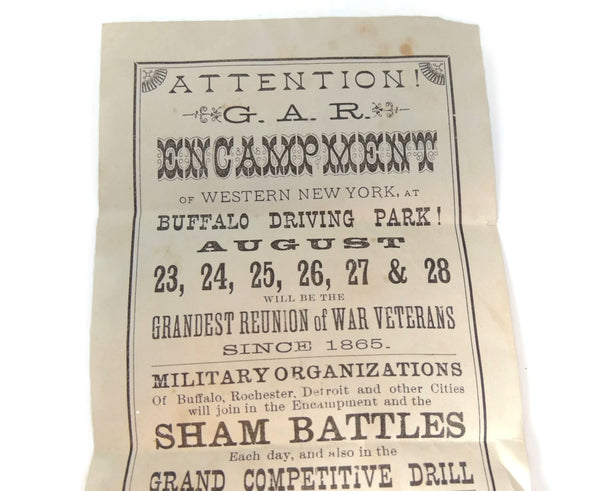 Antique GAR Encampment Flyer 1897 Buffalo NY Grand Army Encampment - Premier Estate Gallery  - 2