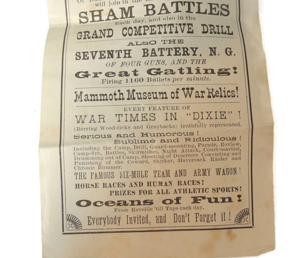 Antique GAR Encampment Flyer 1897 Buffalo NY Grand Army Encampment - Premier Estate Gallery  - 3