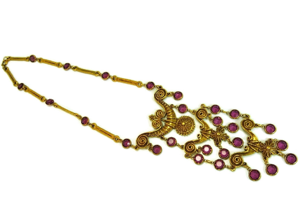 Haute Couture Egyptian Style Jewelry Set Purple Vintage ...