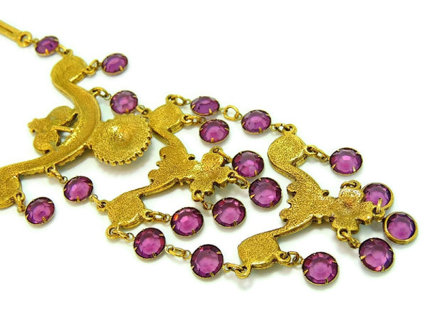 Haute Couture Egyptian Style Jewelry Set Purple Vintage - Premier Estate Gallery  - 8