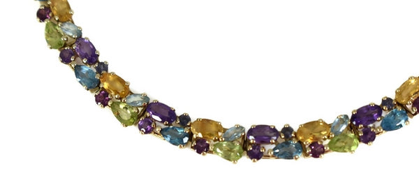 14k Multi Gemstone Tennis Bracelet 9.7 ctw - Premier Estate Gallery 4