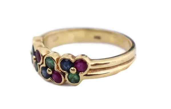 14k Gemstone Band Ruby Emerald Sapphire - Premier Estate Gallery 3
