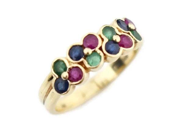 14k Gemstone Band Ruby Emerald Sapphire - Premier Estate Gallery 4