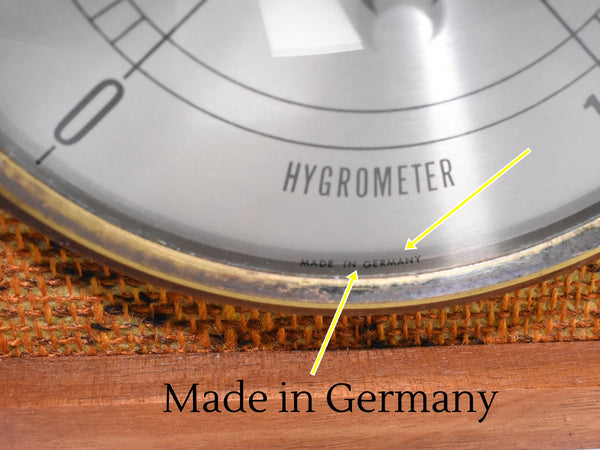 Mid Century Modern Hygrometer Made in Germany
