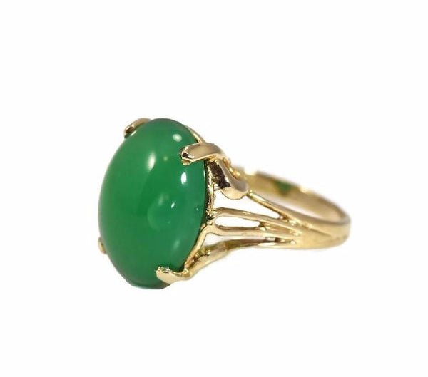 Estate 14k Jade Ring Apple Green 4.5 Carats - Premier Estate Gallery 4