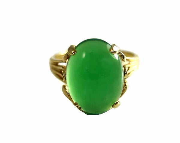 Estate 14k Jade Ring Apple Green 4.5 Carats - Premier Estate Gallery
