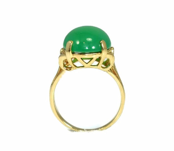 Estate 14k Jade Ring Apple Green 4.5 Carats - Premier Estate Gallery 3