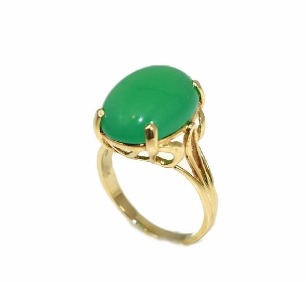 Estate 14k Jade Ring Apple Green 4.5 Carats - Premier Estate Gallery 2