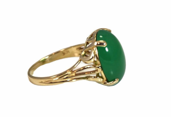 Estate 14k Jade Ring Apple Green 4.5 Carats - Premier Estate Gallery 5