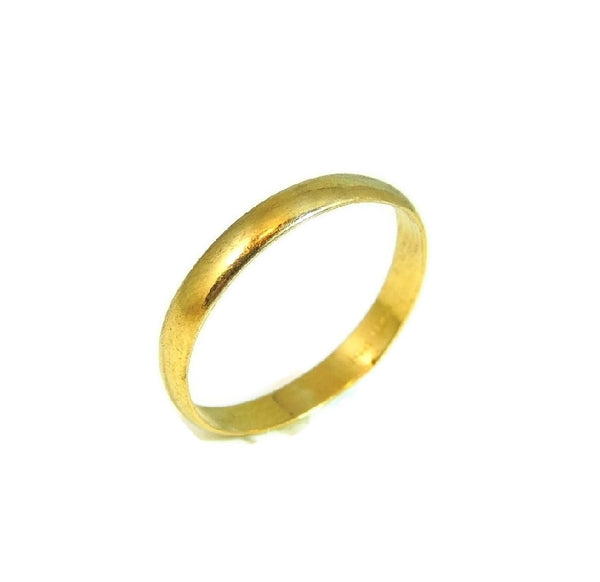 Classic 14k Gold Wedding Band Light Weight Vintage