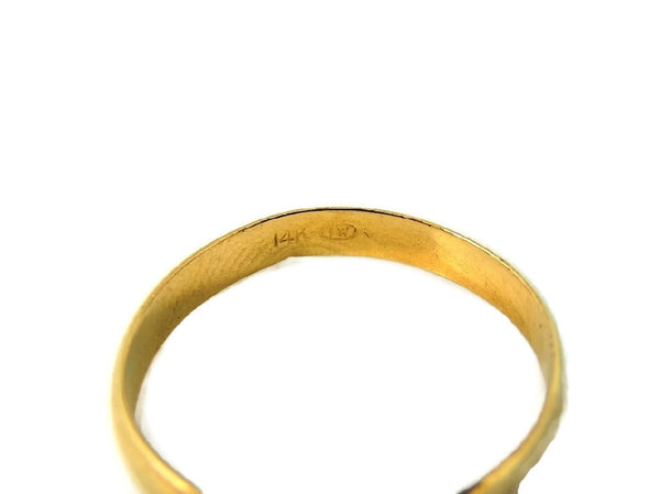 Classic 14k Gold Wedding Band Light Weight Vintage - Premier Estate Gallery  - 3