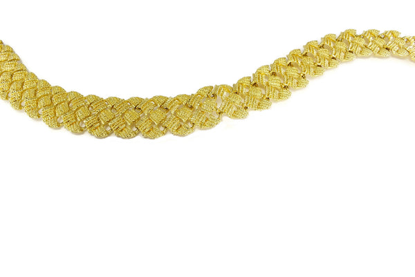 "1960s Glamourous Gold Plated Wide Fancy Link Necklace 18"" - Premier Estate Gallery 5"