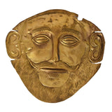 c1900 Gold Plated Mycenaean Death Mask of Agamemnon Ancient Greek Reproduction - Premier Estate Gallery 2