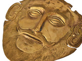 c1900 Gold Plated Mycenaean Death Mask of Agamemnon Ancient Greek Reproduction - Premier Estate Gallery 3