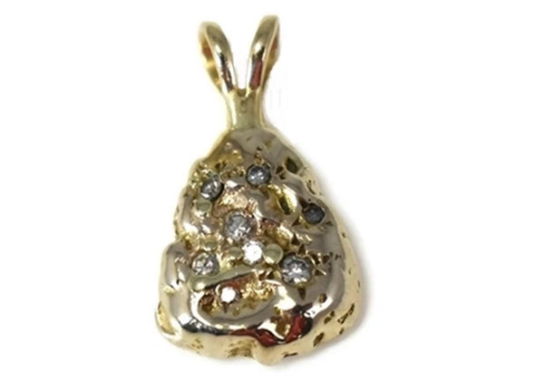 Vintage 14k Gold Money Bag Pendant with Diamonds - Premier Estate Gallery 1