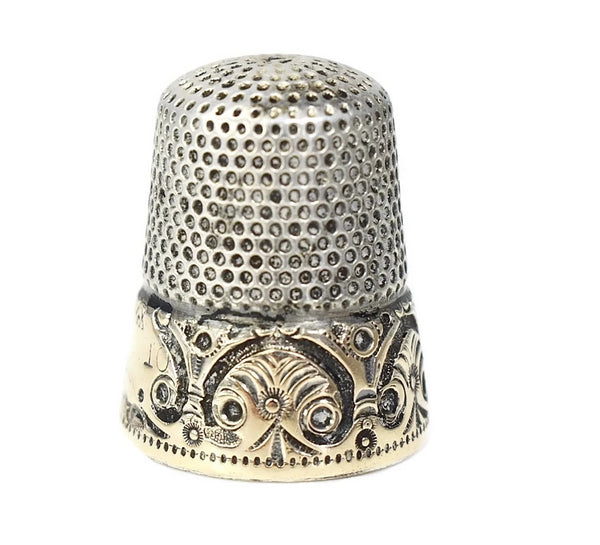 Antique 14k Sterling Thimble Ketchum and McDougall - Premier Estate Gallery 2