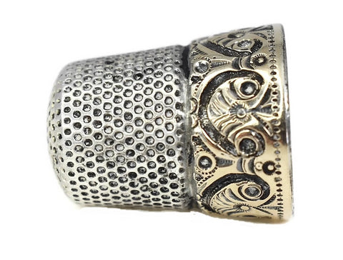 Antique 14k Sterling Thimble Ketchum and McDougall - Premier Estate Gallery