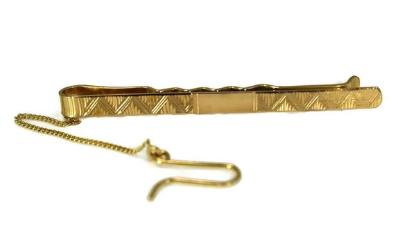 Estate 18k Gold Tie Clip Men's Vintage Fashion Accessory Italy