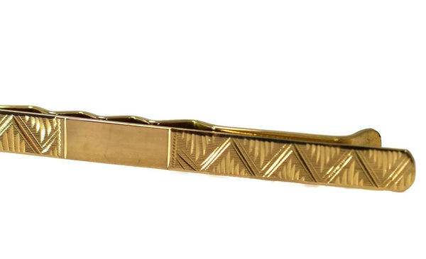 Estate 18k Gold Tie Clip Men's Vintage Fashion Accessory Italy - Premier Estate Gallery 2