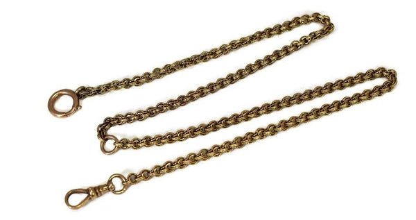 14k Gold Antique Pocket Watch Chain Fancy Link - Premier Estate Gallery 2