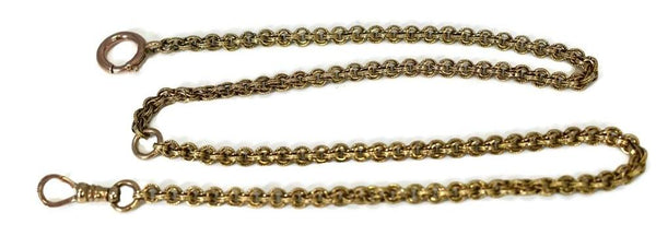 14k Gold Antique Pocket Watch Chain Fancy Link - Premier Estate Gallery 6