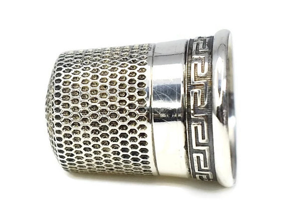 Victorian Sterling Thimble Greek Key Simon Bros Antique - Premier Estate Gallery 3