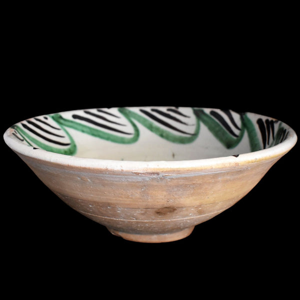 19th Century Tin Glaze Earthenware Bowl Basin Teruel Spain - Premier Estate Gallery 1