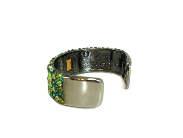 Emerald Green Rhinestone Cuff Bracelet KJL Kenneth Lane - Premier Estate Gallery  - 4