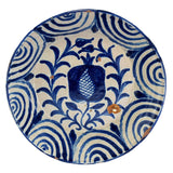 Early 19th Cent Blue Decorated Pineapple Bowl Basin Talavera Spain - Premier Estate Gallery