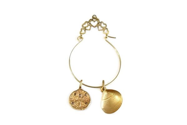 14k Gold Charm Holder for Necklace
