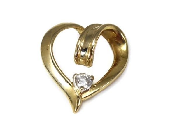 14k Gold Diamond Heart Pendant - Premier Estate Gallery 1