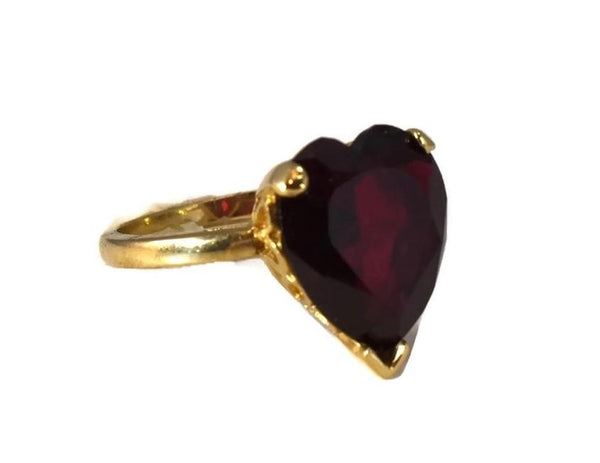 Vintage 14k Ruby Heart Engagement Ring 5.4 cts - Premier Estate Gallery 2