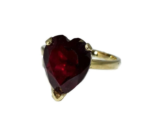 Vintage 14k Ruby Heart Engagement Ring 5.4 cts - Premier Estate Gallery 4