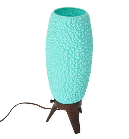 MCM Aqua Beehive Bubble Table Lamp George Nelson Style - Premier Estate Gallery