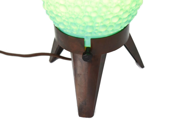 MCM Aqua Beehive Bubble Table Lamp George Nelson Style