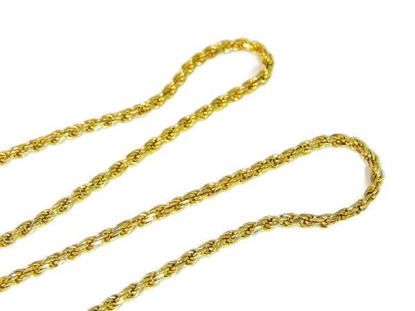 14k Gold Rope Chain with Italian Horn Pendant - Premier Estate Gallery  - 4