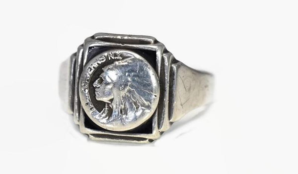 Vintage Howe Cavern NY Sterling Silver Men's Ring Schoharie Collectible - Premier Estate Gallery 2