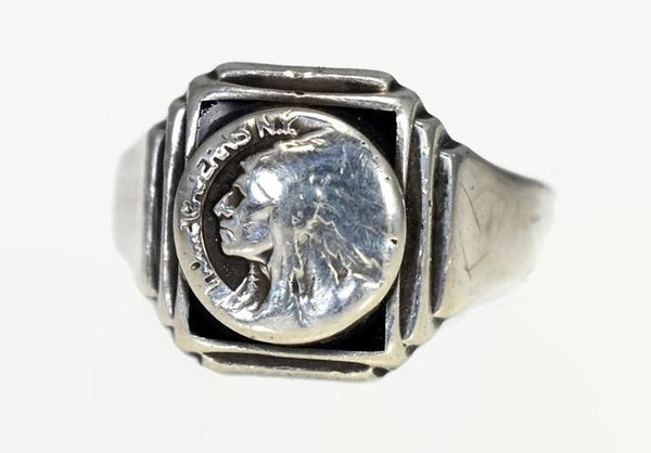 Vintage Howe Cavern NY Sterling Silver Men's Ring Schoharie Collectible